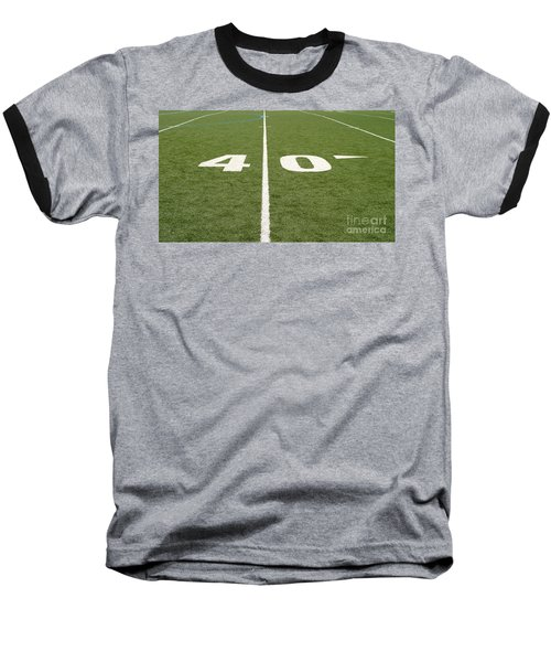 Football Field Forty Baseball T-Shirt