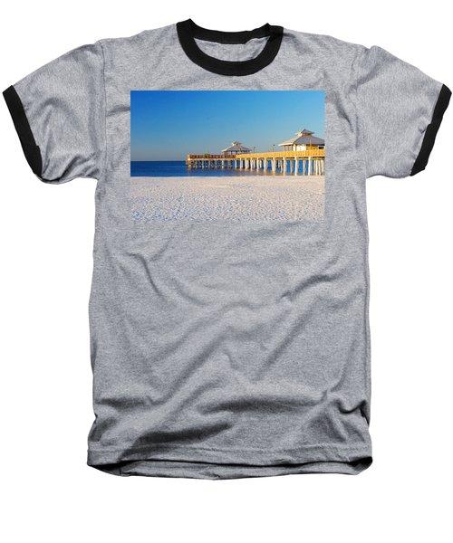 Fort Myers Beach Pier Baseball T-Shirt