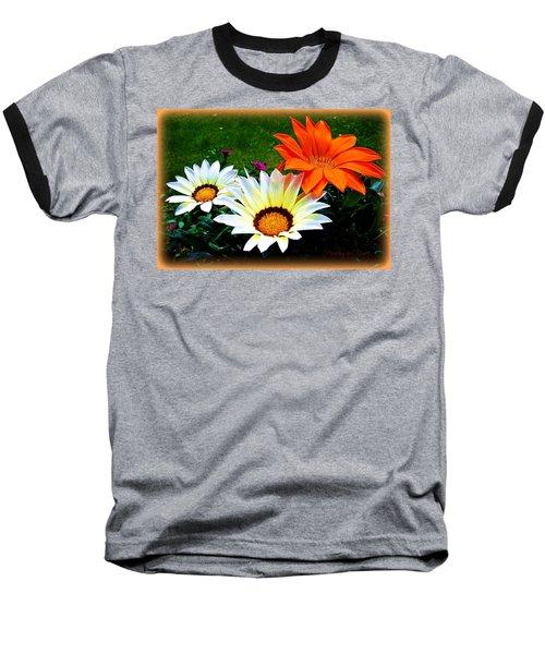 Garden Daisies Baseball T-Shirt