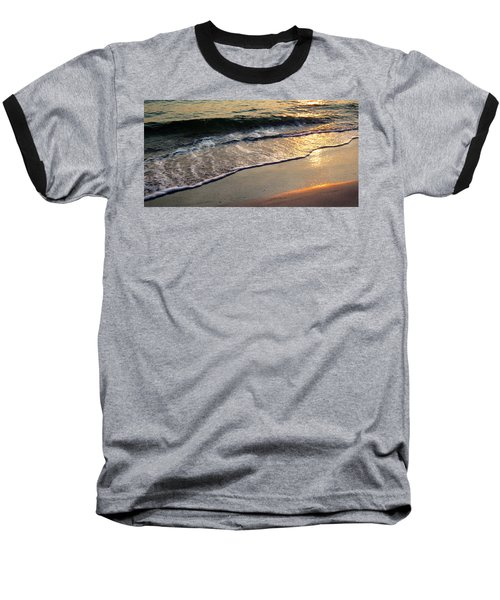 Gentle Tide Baseball T-Shirt by Angela Rath