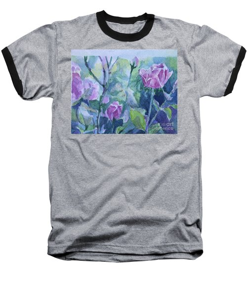 How Did The Rose Baseball T-Shirt by Jan Bennicoff