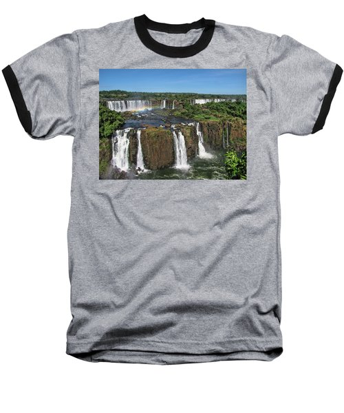 Iguazu Falls Baseball T-Shirt by David Gleeson