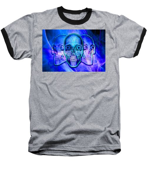 Illuminated Skulls Baseball T-Shirt