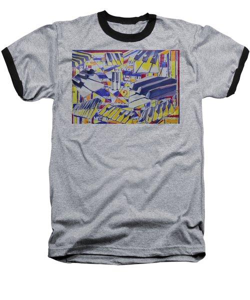 Jumping Jazz Baseball T-Shirt by Jan Bennicoff