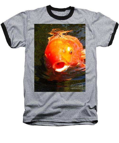 Koi Fish Baseball T-Shirt by Angela Murray