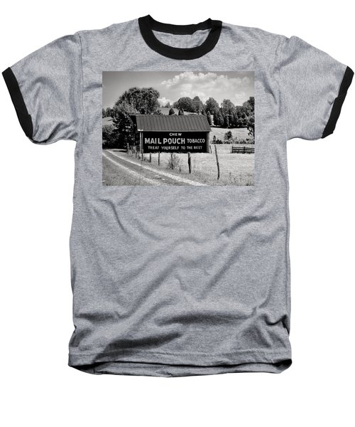Baseball T-Shirt featuring the photograph Mail Pouch Barn by Mary Almond