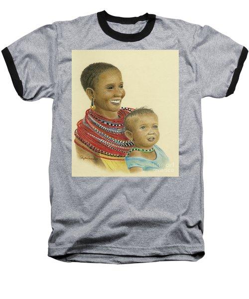 Masai Mom And Babe Baseball T-Shirt