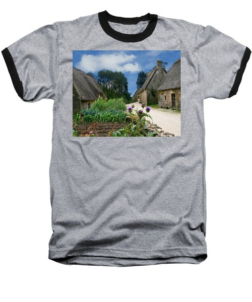 Medieval Village Baseball T-Shirt