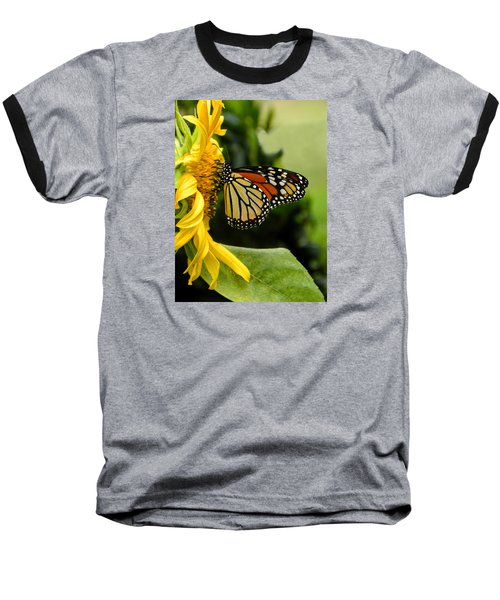 Monarch And The Sunflower Baseball T-Shirt