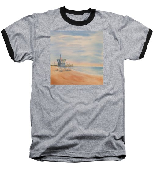Morning By The Beach Baseball T-Shirt
