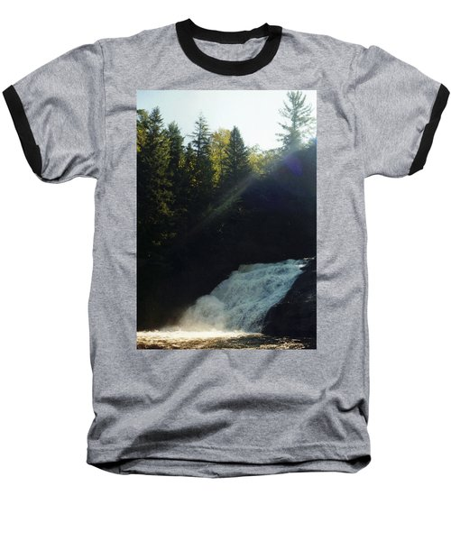 Baseball T-Shirt featuring the photograph Morning Waterfall by Stacy C Bottoms