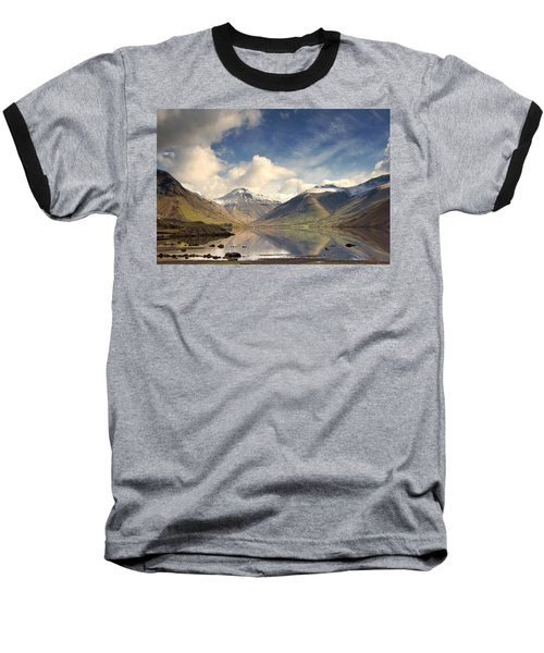 Baseball T-Shirt featuring the photograph Mountains And Lake At Lake District by John Short