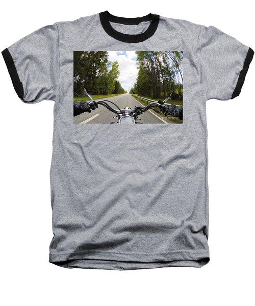 On The Road Baseball T-Shirt by Micah May