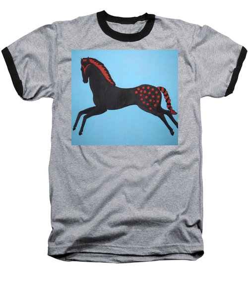 Painted Pony Baseball T-Shirt by Stephanie Moore