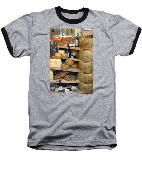 Parmesan Rounds Baseball T-Shirt by Carla Parris