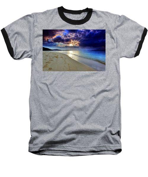 Baseball T-Shirt featuring the photograph Port Stephens Sunset by Paul Svensen