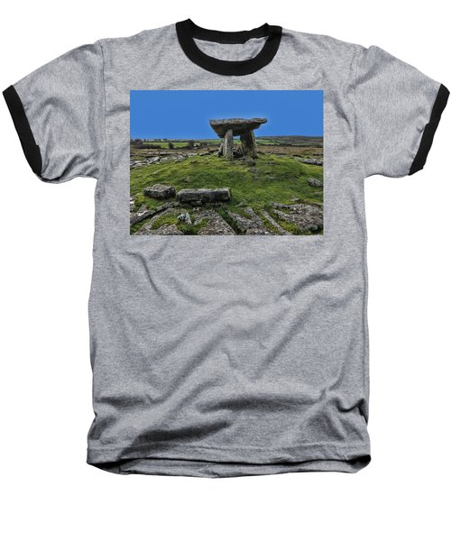 Baseball T-Shirt featuring the photograph Poulnabrone Dolmen by David Gleeson