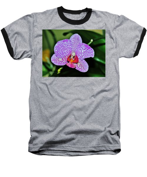 Baseball T-Shirt featuring the photograph Purple Orchid by Sherman Perry