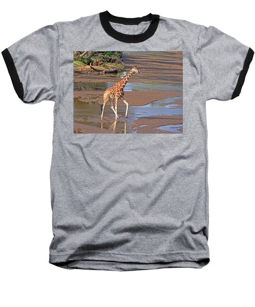 Reticulated Giraffe Baseball T-Shirt