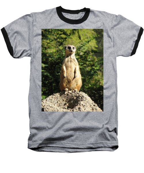 Baseball T-Shirt featuring the photograph Sentinel Meerkat by Carla Parris