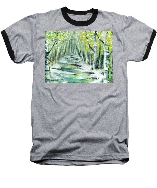 Baseball T-Shirt featuring the painting Spring by Shana Rowe Jackson
