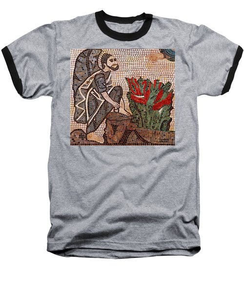 Baseball T-Shirt featuring the painting Standing On Holy Ground by Cynthia Amaral