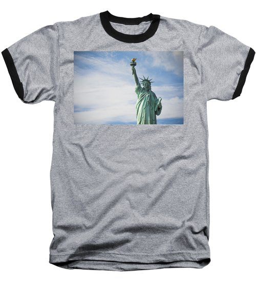 Baseball T-Shirt featuring the photograph Statue Of Liberty by Theodore Jones