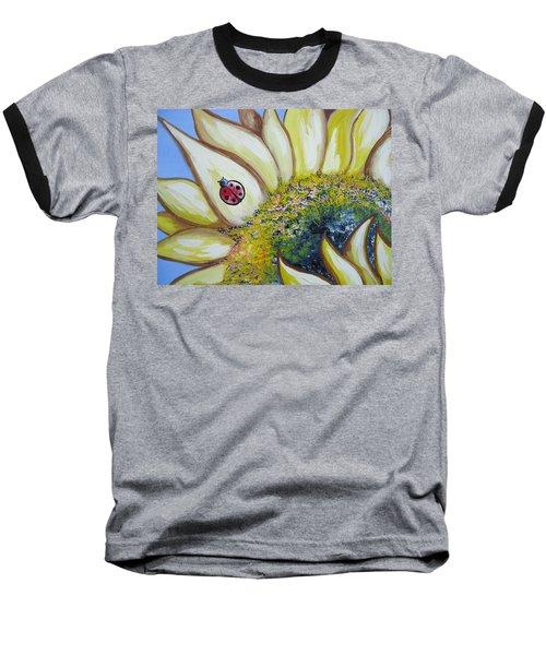 Sunflower And Ladybug Baseball T-Shirt