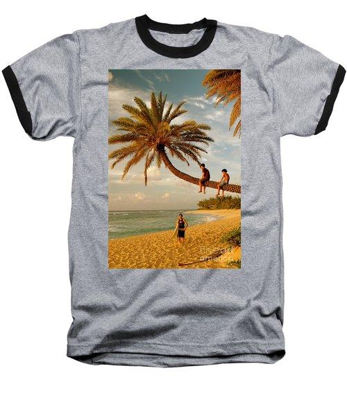 Sunset Beach Oahu Baseball T-Shirt