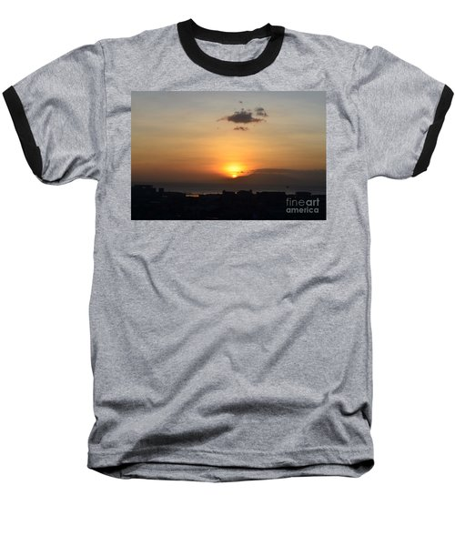 Sunset Upon The Ocean  Baseball T-Shirt