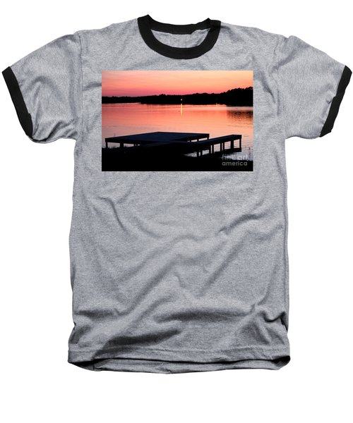 Baseball T-Shirt featuring the photograph Sunset View From Dockside by Kathy  White