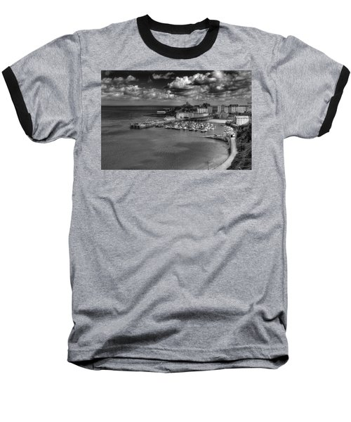 Baseball T-Shirt featuring the photograph Tenby Harbour by Steve Purnell