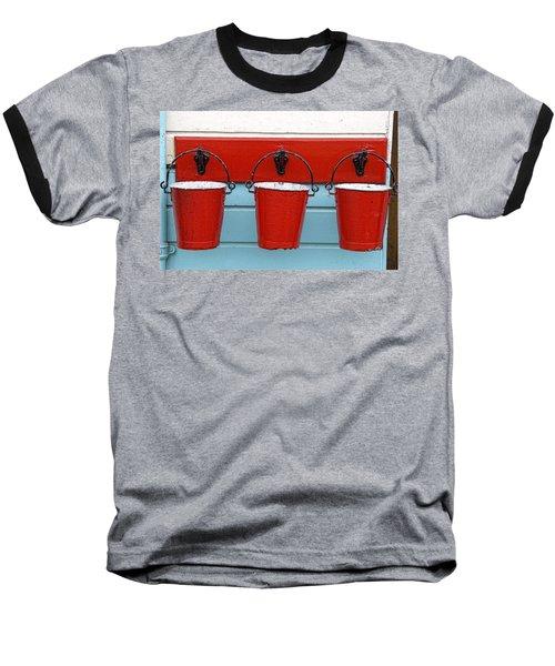 Three Red Buckets Baseball T-Shirt