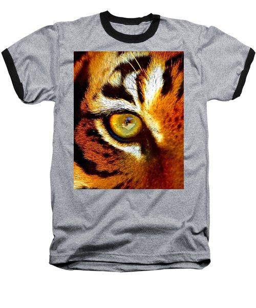 Tigers Eye Baseball T-Shirt by Marlo Horne