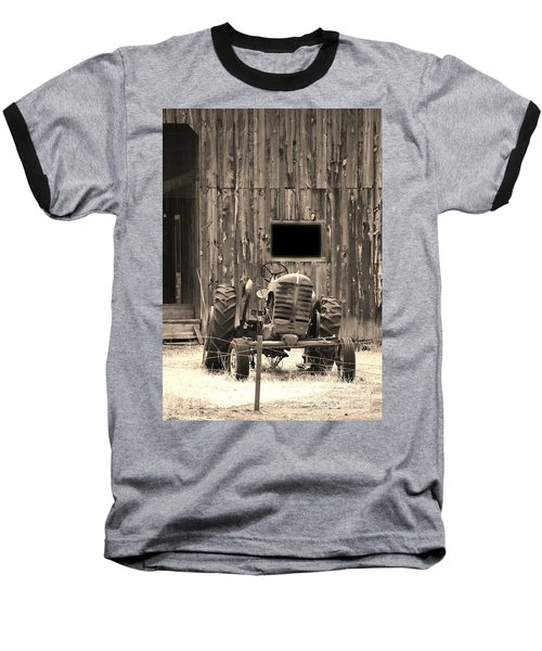 Tractor And The Barn Baseball T-Shirt