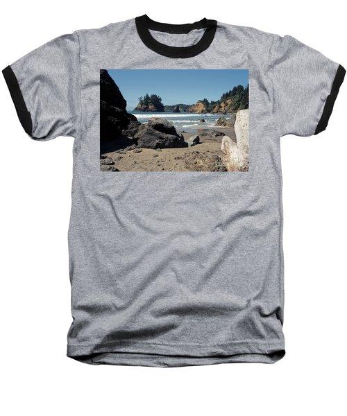 Trinidad Beach Baseball T-Shirt by Sharon Elliott