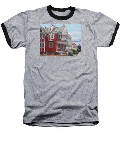 Victorian Afternoon Cape May Baseball T-Shirt by Barbara Barber
