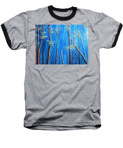 Baseball T-Shirt featuring the painting Waiting by Dan Whittemore