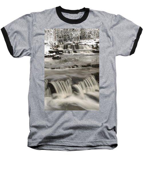 Waterfalls With Fresh Snow Thunder Bay Baseball T-Shirt