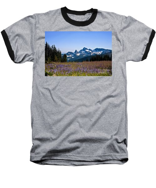 Wildflowers In The Cascades Baseball T-Shirt