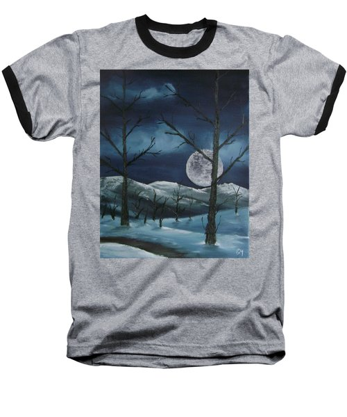 Winter Night Baseball T-Shirt