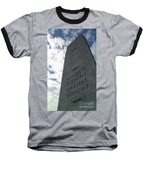 Wright Brothers Memorial Baseball T-Shirt by Tony Cooper