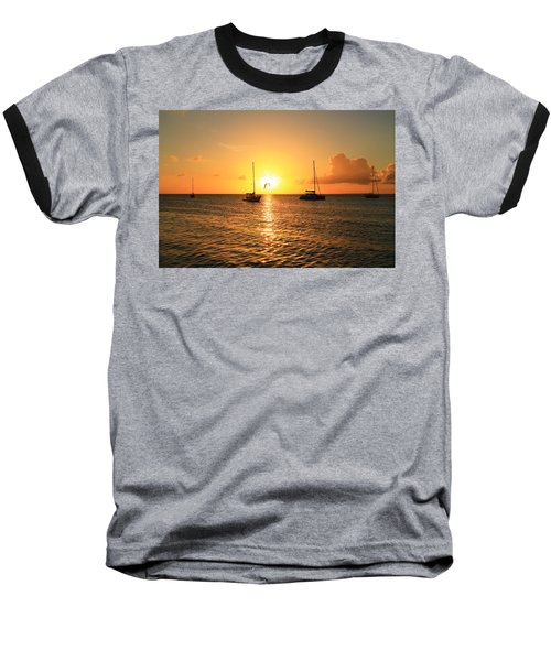 Sunset Baseball T-Shirt by Catie Canetti