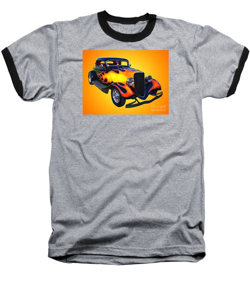 1934 Ford 3 Window Coupe Hotrod Baseball T-Shirt by Jim Carrell
