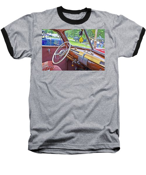 Baseball T-Shirt featuring the photograph 1941 Ford Dash by Paul Mashburn