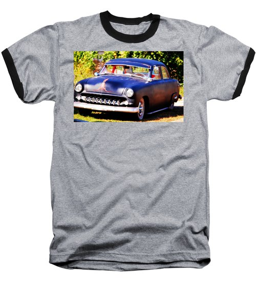 Baseball T-Shirt featuring the photograph 1950 Ford  Vintage by Peggy Franz