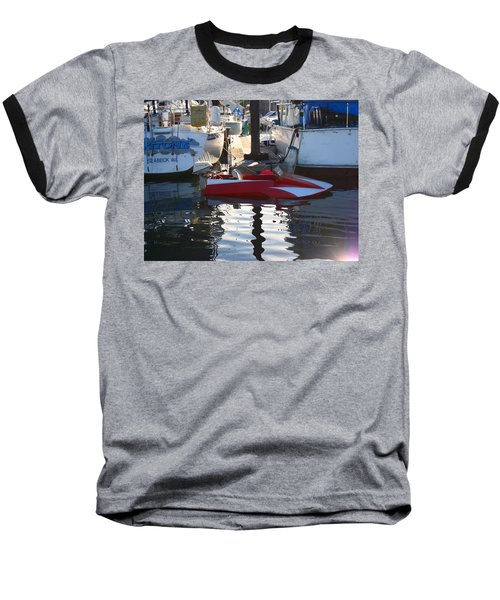 Baseball T-Shirt featuring the photograph 1950's Custom Hydroplane by Kym Backland