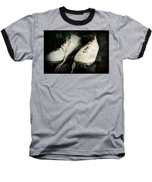 1950's Roller Skates Baseball T-Shirt