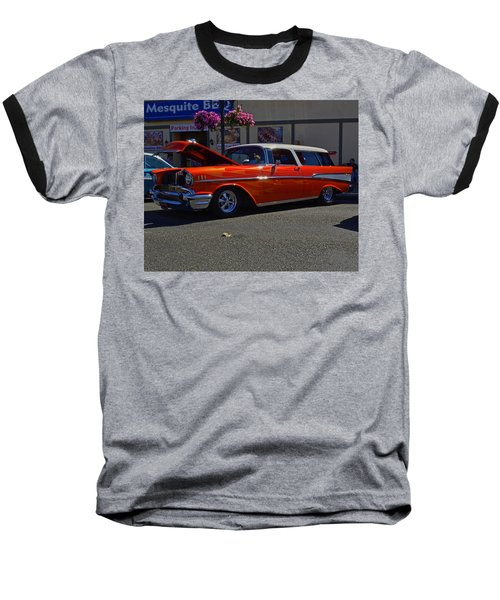 Baseball T-Shirt featuring the photograph 1957 Belair Wagon by Tikvah's Hope