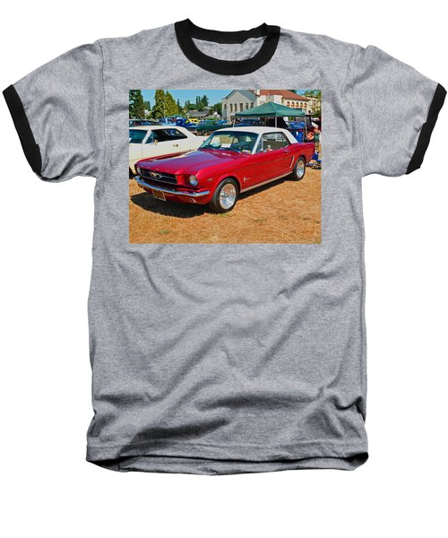 Baseball T-Shirt featuring the photograph 1964 Ford Mustang by Tikvah's Hope